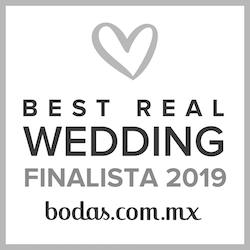 Finalista Best Real Wedding 2019 Bodas.com.mx