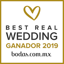 Ganador Best Real Wedding 2019 Bodas.com.mx