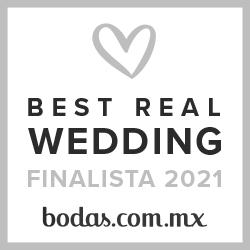 Finalista Best Real Wedding 2021Bodas.com.mx
