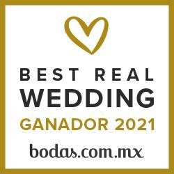 Ganador Best Real Wedding 2021Bodas.com.mx