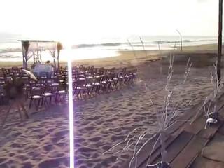 Montaje boda caracol con azul turqueza