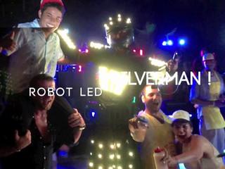 Robot LED Silverman