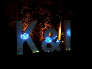 Video mapping en letras