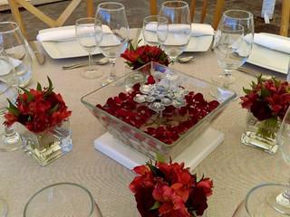 Fuente cristal para centro de mesa