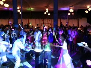 Show de tambores de agua