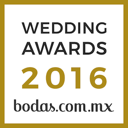 Diseño de Emociones, ganador Wedding Awards 2016 bodas.com.mx